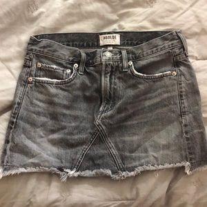 AGOLDE Los Angeles Premium Grey Jean Mini Skirt